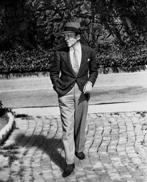 Fred Astaire Walking with Hand in Pocket Premium Art Print