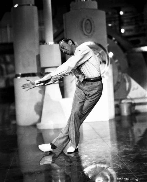 Fred Astaire Dancing in White Shoes Premium Art Print
