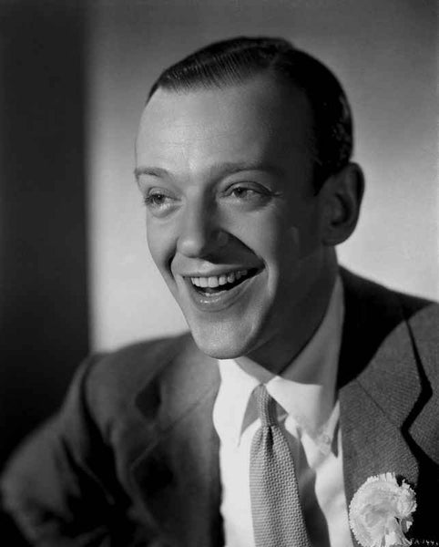 Fred Astaire smiling in Black and White Premium Art Print