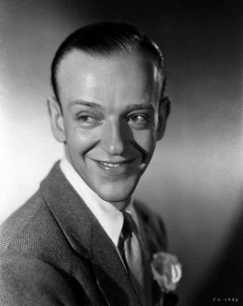 Fred Astaire smiling in Suit Premium Art Print