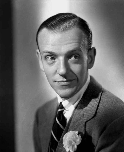 Fred Astaire Posed in Portrait in Black and White Premium Art Print