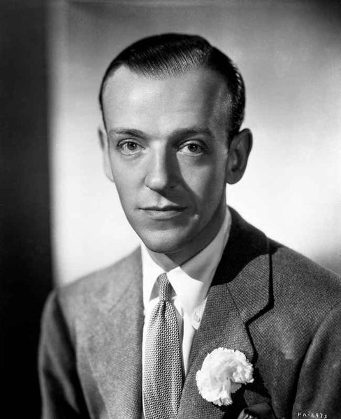 Fred Astaire Posed in Suit with Expressionless Face Premium Art Print