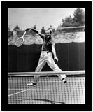 Fred Astaire Playing Tennis in Polo Shirt and White Slacks High Quality Photo