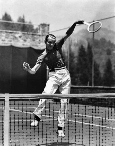 Fred Astaire Playing Tennis in White Shoes Premium Art Print