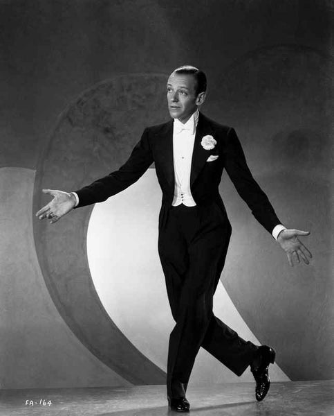 Fred Astaire Bowing to Audience Premium Art Print