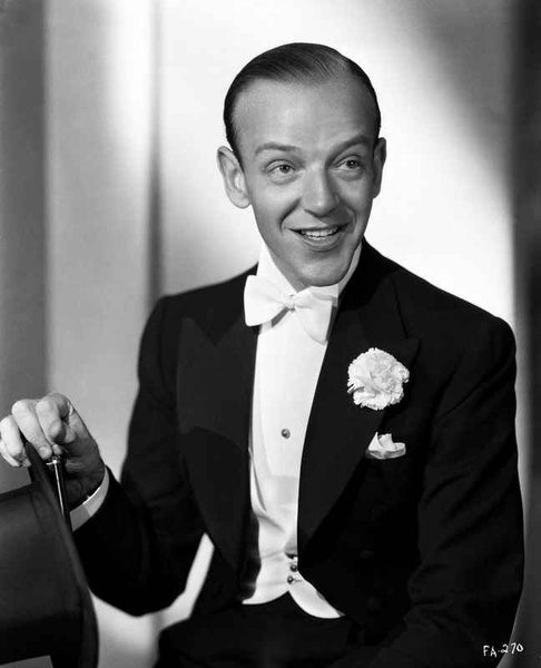 Fred Astaire in Classic Black and White Portrait Premium Art Print