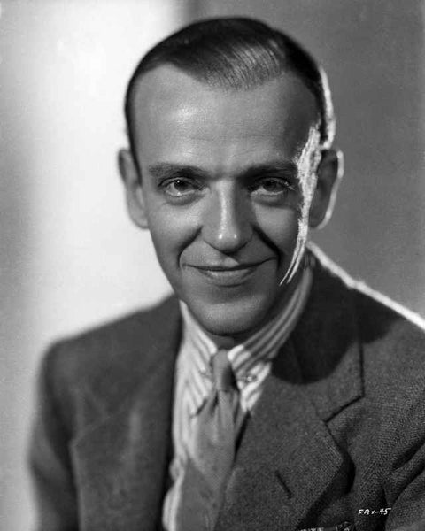 Fred Astaire Smirking in Suit with Gray Background Premium Art Print