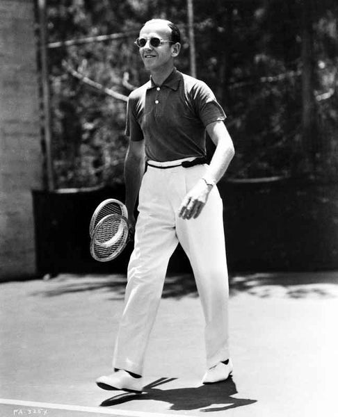 Fred Astaire Carrying Two Tennis Rackets Premium Art Print