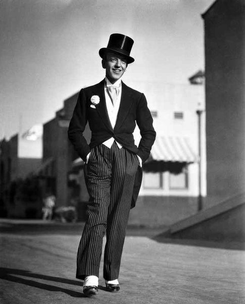 Fred Astaire Walking in Formal Suit Premium Art Print