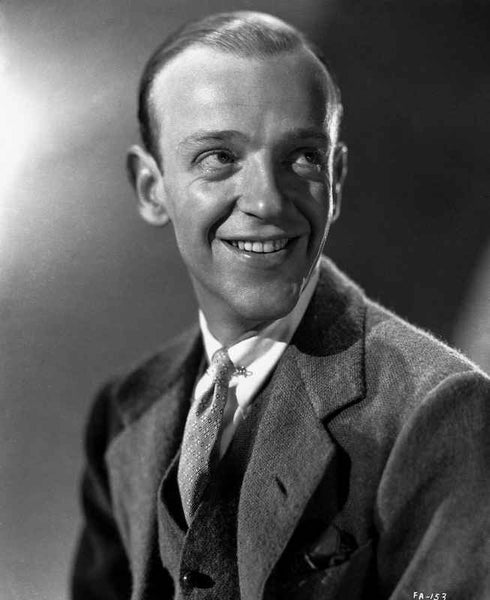Fred Astaire smiling in Suit Looking Up Premium Art Print