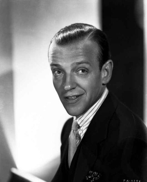 Fred Astaire smiling in Portrait Premium Art Print