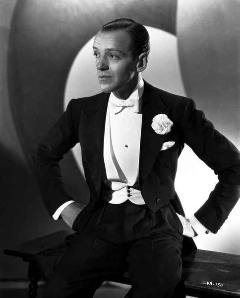 Fred Astaire Seated while Hands in Pocket Premium Art Print