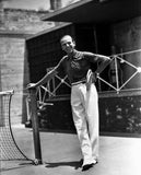 Fred Astaire Leaning on Tennis Net Pole Premium Art Print