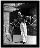 Fred Astaire Leaning on Tennis Net Pole High Quality Photo