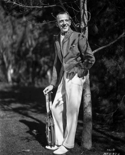 Fred Astaire Posed in White Pants Premium Art Print