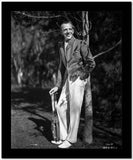 Fred Astaire Posed in White Pants High Quality Photo