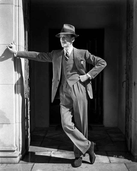 Fred Astaire Leaning on Wall Premium Art Print