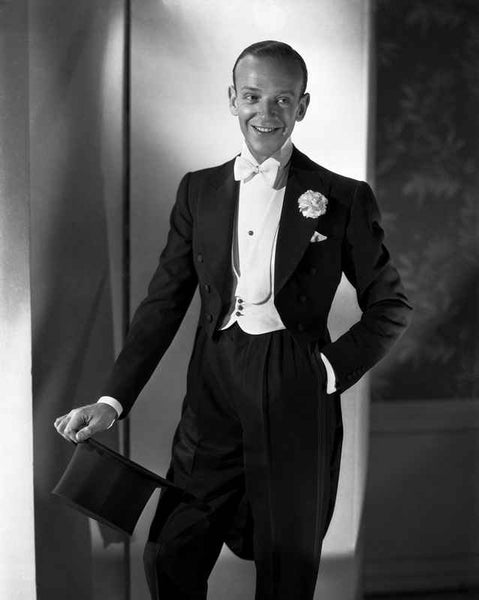 Fred Astaire in Top Hat, White Tie and Tails Premium Art Print