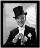 Fred Astaire Posed in Formal Suit and Top Hat Black and White High Quality Photo