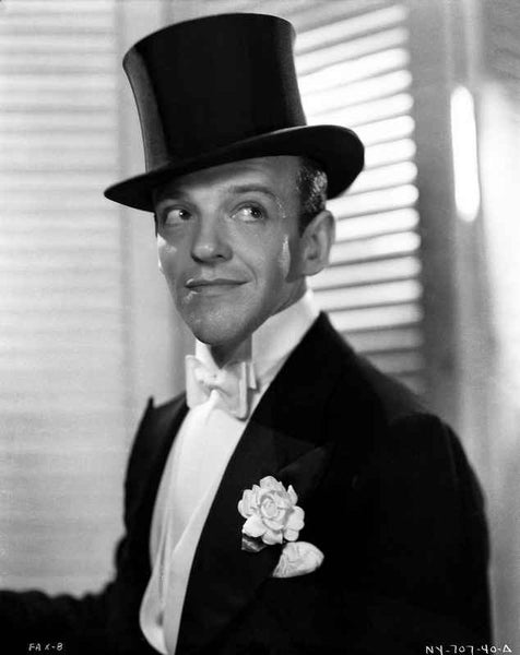 Fred Astaire smiling in Top Hat and White Tie Premium Art Print
