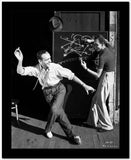 Fred Astaire Dancing in White Shirt Black and White Portrait High Quality Photo