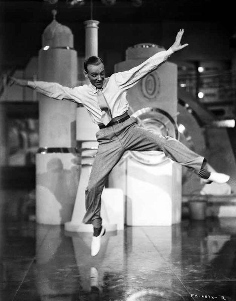 Fred Astaire Dancing and Leaping Premium Art Print