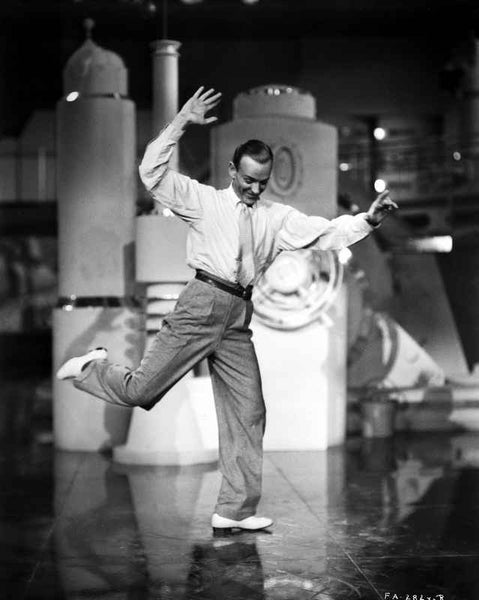 Fred Astaire Dancing in One Leg Premium Art Print