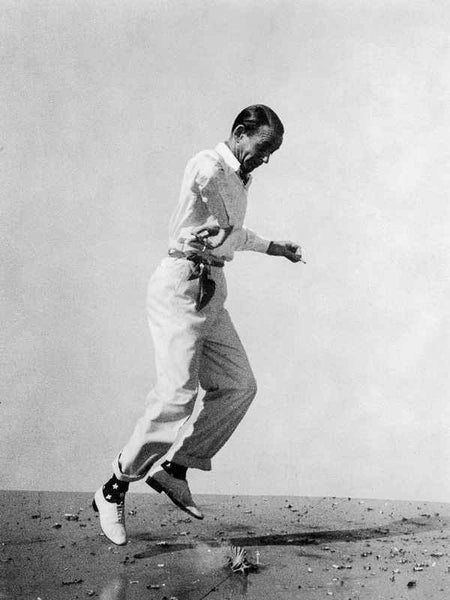 Fred Astaire Leaping in Black and White Premium Art Print