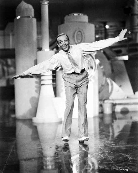 Fred Astaire Spreading Arms Like a Plane Premium Art Print