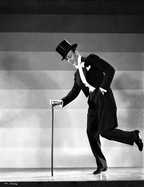 Fred Astaire Dancing in Black Tuxedo Premium Art Print