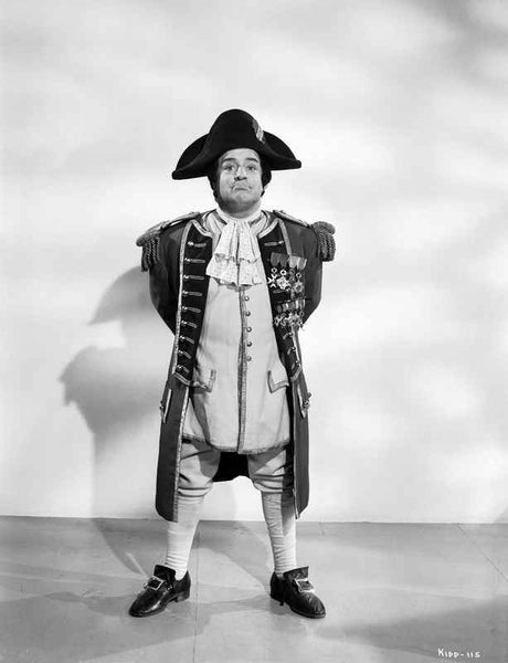 Abbott & Costello Posed and Dressed Like Napoleon Making a Parade Rest Pose in Classic Portrait Premium Art Print