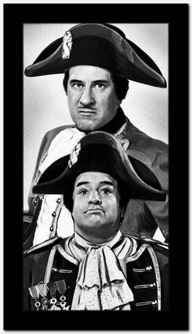 Abbott & Costello Posed and Dressed Like Napoleon Classic Portrait High Quality Photo