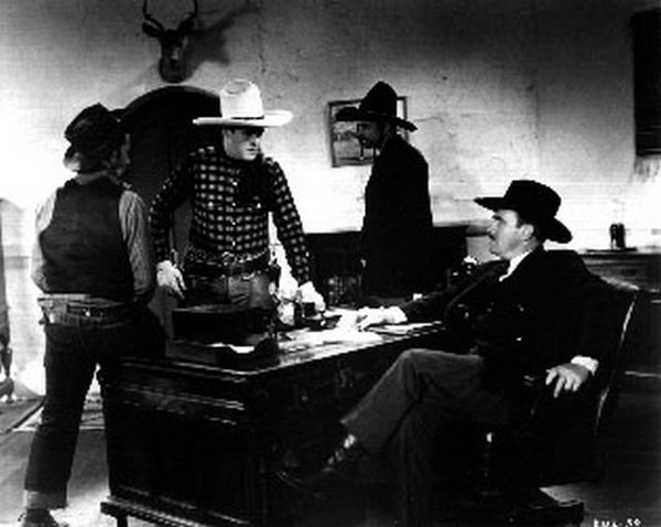 Boots Of Destiny Cowboys Arguing Scene Excerpt from Film Premium Art Print