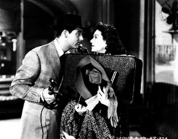 His Girl Friday Man Talking to a Lady Photograph Print