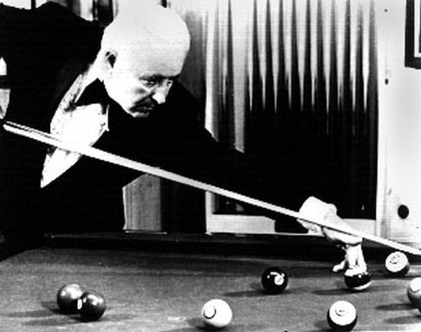 Pool Players Scene of an Old Man Playing Pool Excerpt from Film Premium Art Print