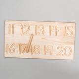 11-20 Wooden Number Tracing Board