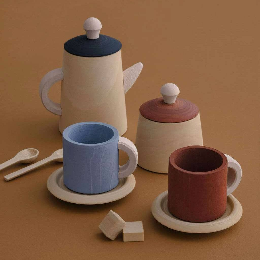 Terracotta Wooden Tea Set