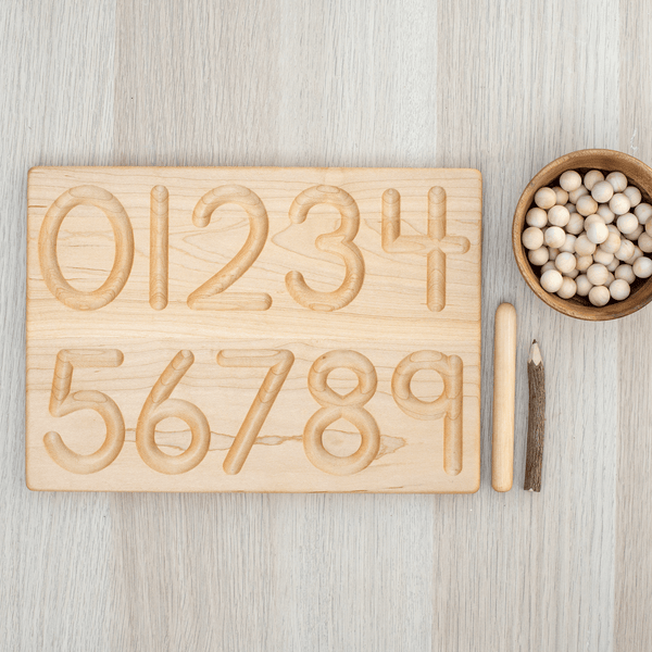 0-9 Wooden Number Tracing Board