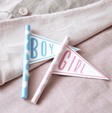 Personalised Mini Pattern Pennant Flag