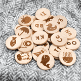 Wooden Alphadot Words