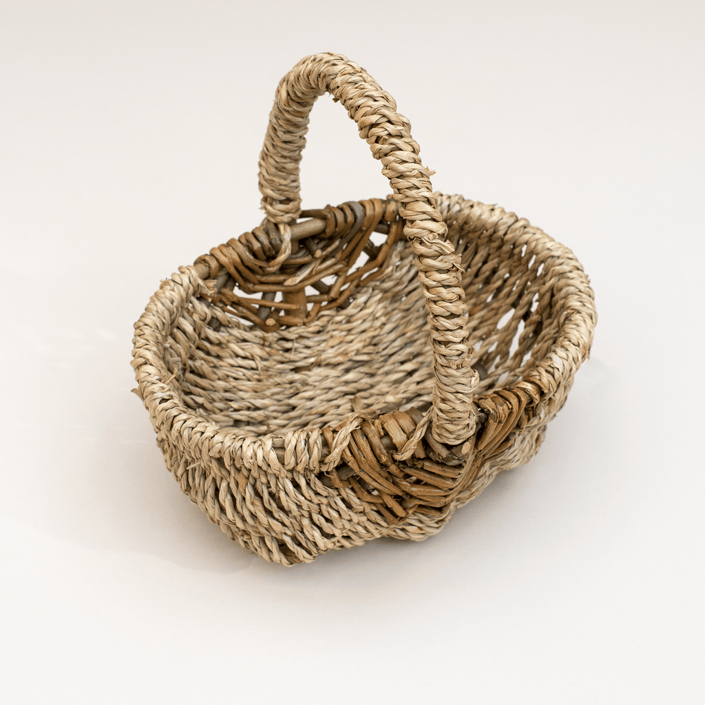 Seagrass Mini Basket (woven handle)