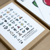 Coloured Alphabet Flashcards