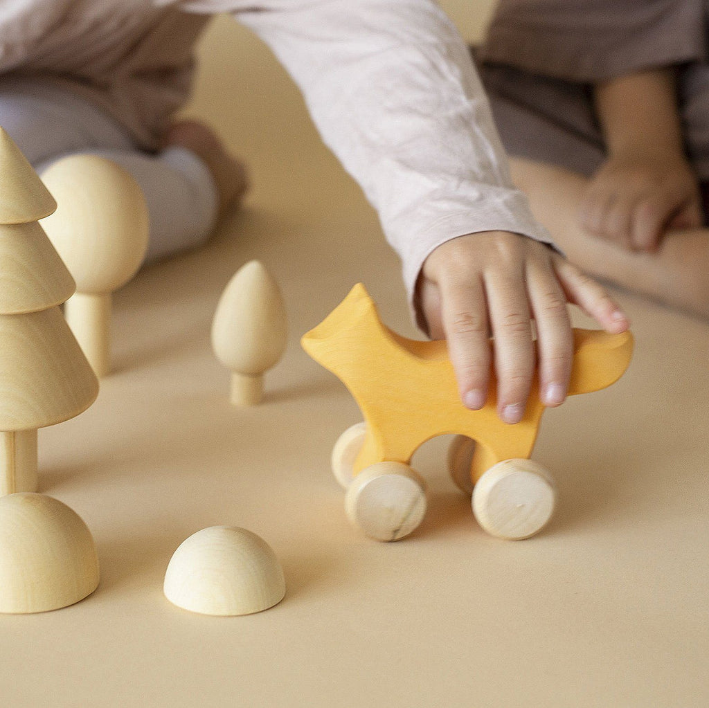 Wooden Fox Push Toy