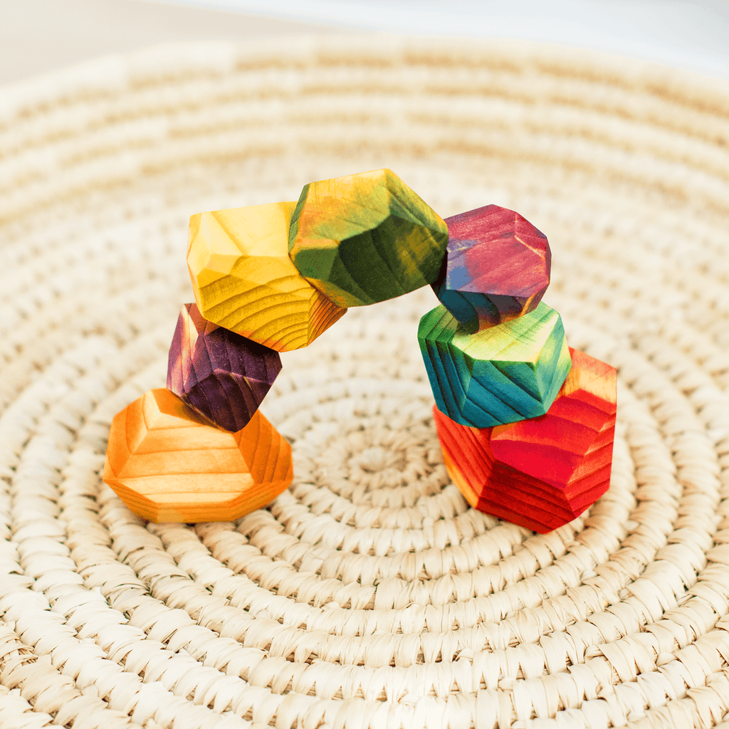 Wooden Rainbow Gems