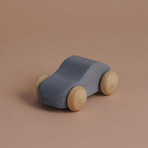 Grey Wooden Car