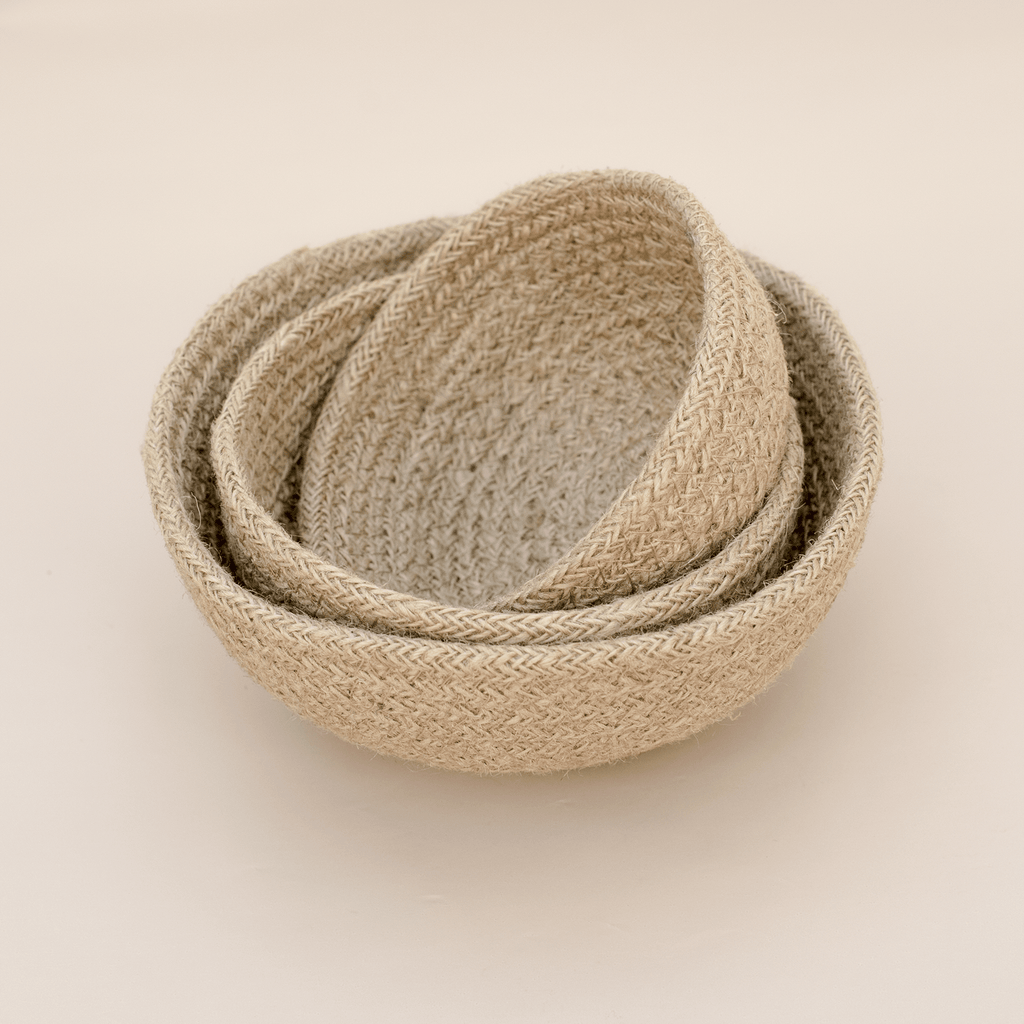 Natural Jute Bowl Set