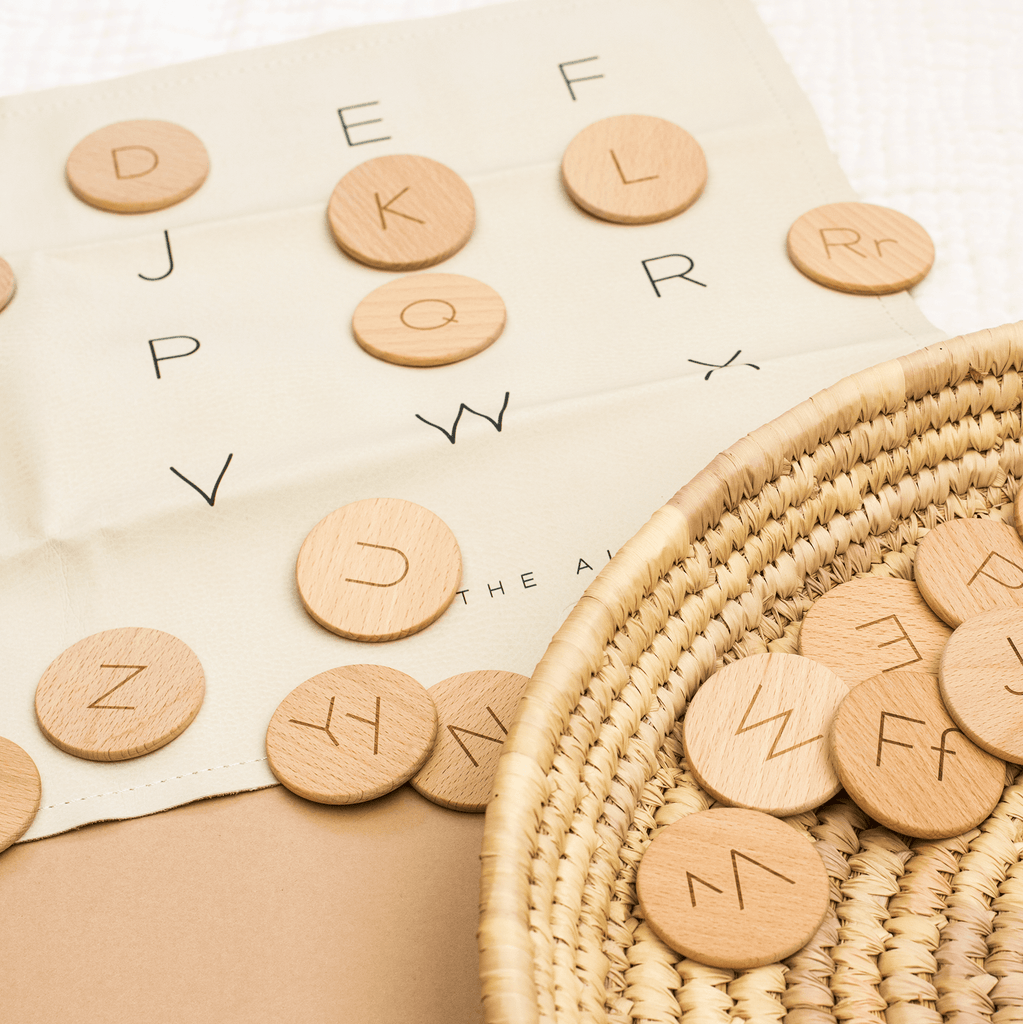 Wooden Letter Dots (to match Gathre mats!)