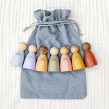 Rainbow Peg Dolls