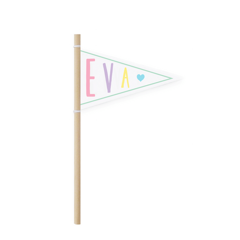 Personalised Rainbow Pennant Flag
