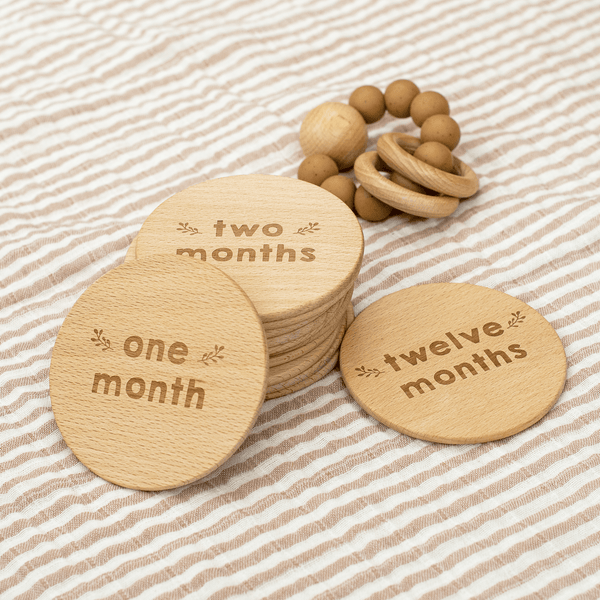 Wooden Milestone Cards (Natural)